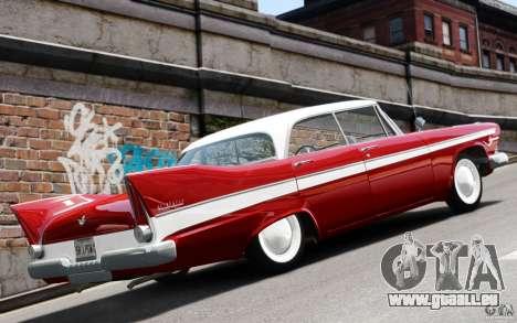 Plymouth Belvedere Sport Sedan 1957 pour GTA 4 est un droit