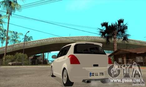 Suzuki Swift 4x4 CebeL Modifiye für GTA San Andreas zurück linke Ansicht