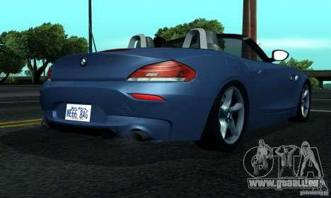 BMW Z4 2010 pour GTA San Andreas vue de droite