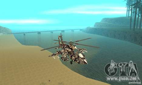 Hydra Hunter pour GTA San Andreas vue arrière