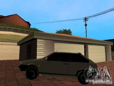 VAZ 2108 Gangsta Edition pour GTA San Andreas sur la vue arrière gauche