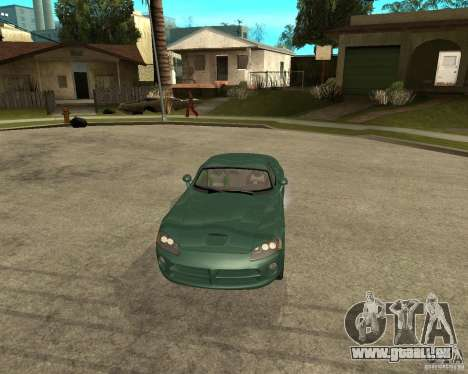 Dodge Viper Srt 10 pour GTA San Andreas vue arrière