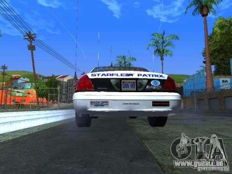Ford Crown Victoria Police Interceptor 2008 pour GTA San Andreas vue de droite