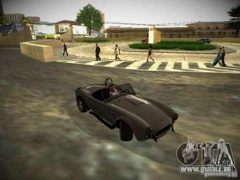 Shelby Cobra für GTA San Andreas Rückansicht