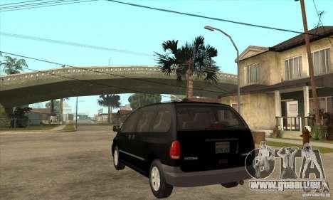 Dodge Caravan 1996 pour GTA San Andreas sur la vue arrière gauche