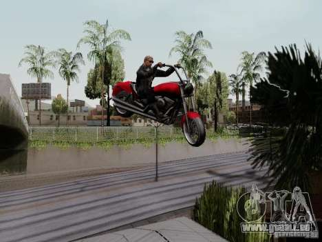 Vice City Freeway für GTA San Andreas Rückansicht