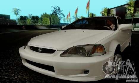 Honda Civic 1999 Si Coupe pour GTA San Andreas