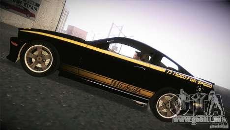 Shelby GT500 Terlingua pour GTA San Andreas sur la vue arrière gauche