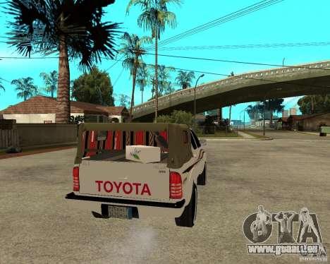 Toyota Hilux 2010 für GTA San Andreas zurück linke Ansicht