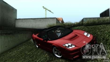 Honda NSX-R 2005 pour GTA San Andreas sur la vue arrière gauche