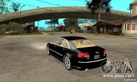 Audi A8 de transporteur 3 pour GTA San Andreas sur la vue arrière gauche
