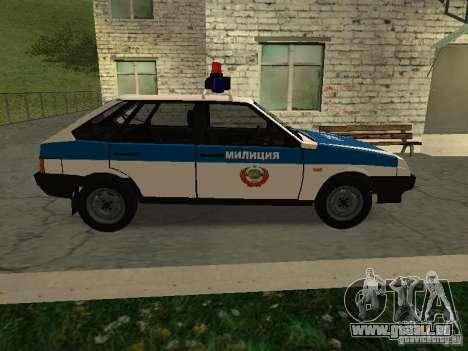 VAZ 2109 Polizei für GTA San Andreas linke Ansicht