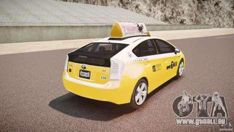 Toyota Prius NYC Taxi 2011 für GTA 4 Unteransicht