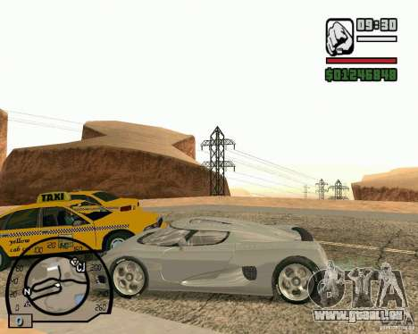 Koenigsegg CC8S pour GTA San Andreas vue arrière
