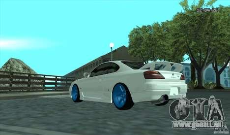 Nissan Silvia S15 Stance pour GTA San Andreas sur la vue arrière gauche