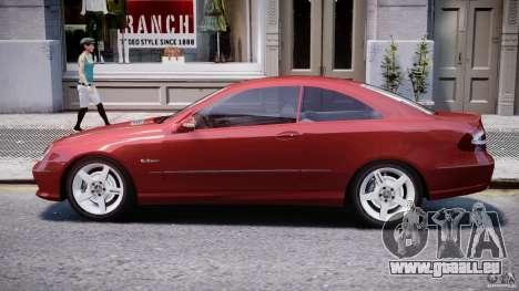 Mercedes-Benz CLK 63 AMG 2005 pour GTA 4 Vue arrière de la gauche