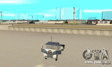 White Freightliner Extended Wheel Base pour GTA San Andreas vue arrière