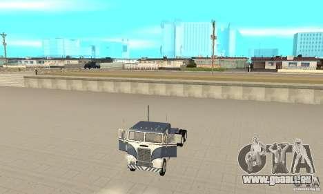 White Freightliner Extended Wheel Base für GTA San Andreas Rückansicht