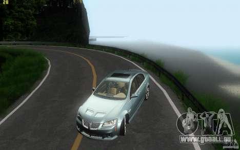 Pontiac G8 GXP 2009 für GTA San Andreas obere Ansicht