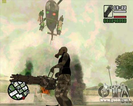 Minigun von Call of Duty Black Ops für GTA San Andreas dritten Screenshot