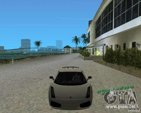 Lamborghini Gallardo Superleggera für GTA Vice City rechten Ansicht