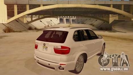 BMW X5 pour GTA San Andreas vue de droite