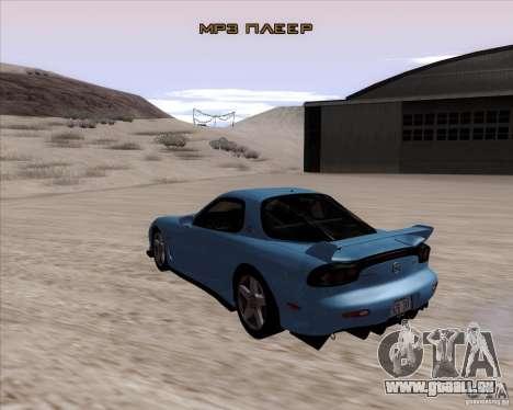 Mazda RX7 2002 FD3S SPIRIT-R (Type RS) pour GTA San Andreas sur la vue arrière gauche