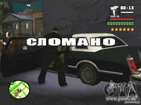 Un arrêt réel pour GTA San Andreas quatrième écran