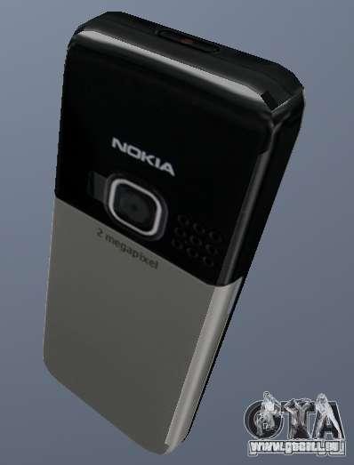 Nokia 6300 Mobile pour GTA San Andreas deuxième écran