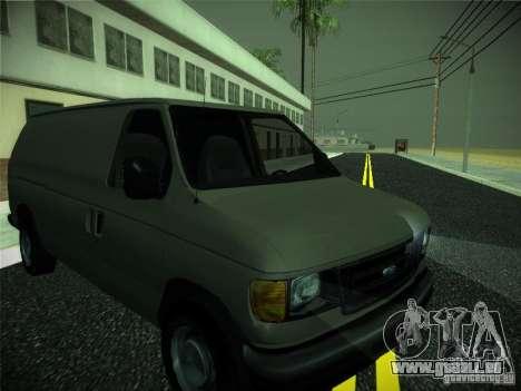 Ford E150 2000 pour GTA San Andreas laissé vue
