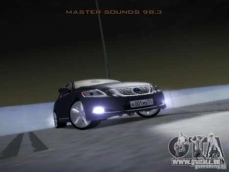 Lexus GS450H pour GTA San Andreas vue de côté