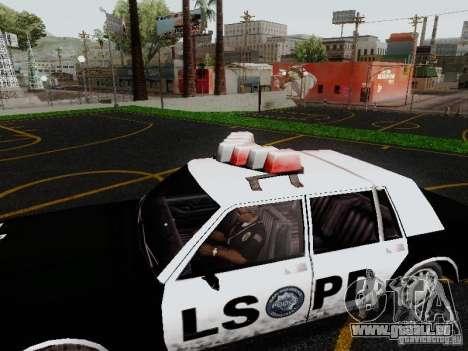 Greenwood Police LS pour GTA San Andreas vue de droite