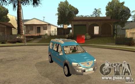 Dacia Logan Steppe Concept für GTA San Andreas Rückansicht