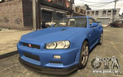 Nissan Skyline GT-R34 FNF pour GTA 4 est un droit
