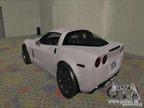 Chevrolet Corvette Grand Sport 2010 für GTA San Andreas rechten Ansicht