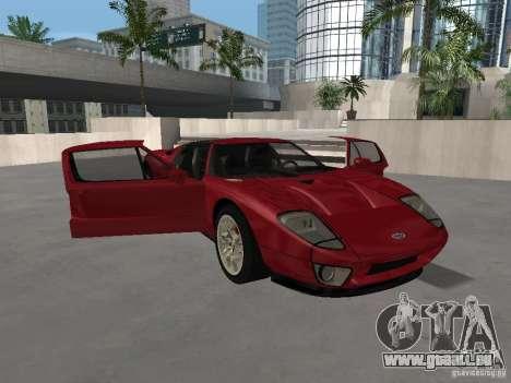 Ford GT pour GTA San Andreas vue de dessus