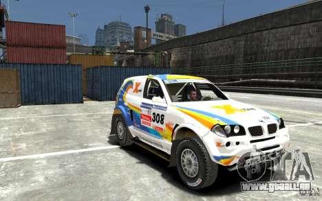 BMW X3 CC DAKAR pour GTA 4 Vue arrière