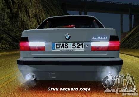 BMW E34 540i Tunable für GTA San Andreas Räder