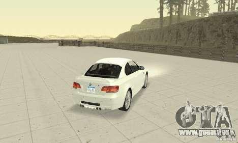 BMW M3 2008 Convertible Hamann für GTA San Andreas linke Ansicht