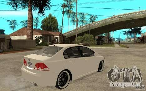 Honda Civic FD pour GTA San Andreas vue de droite