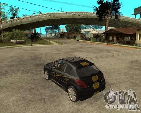 PEUGEOT 207 Griffe LANCARSPORT pour GTA San Andreas laissé vue