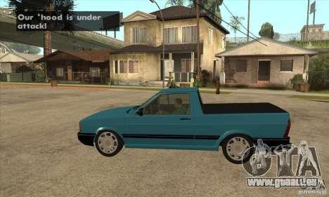 VW Saveiro GL 1989 pour GTA San Andreas laissé vue