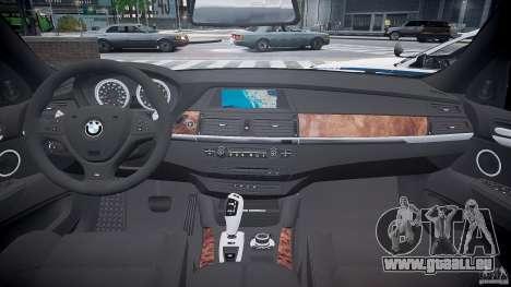 BMW X6M Police pour GTA 4 Vue arrière