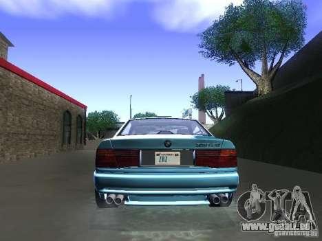 BMW 850CSi 1995 pour GTA San Andreas vue arrière
