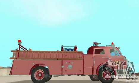 American LaFrance Pumper 1960 für GTA San Andreas Rückansicht