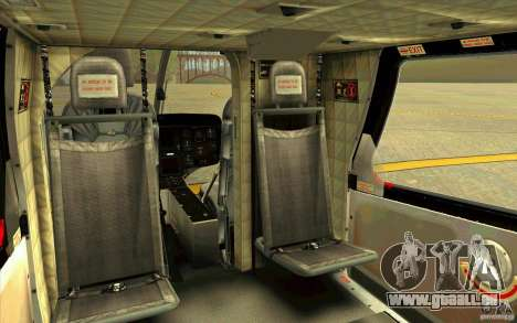 MD 902 Explorer pour GTA San Andreas vue intérieure