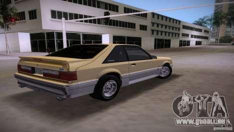 Ford Mustang GT 1993 pour une vue GTA Vice City de la gauche