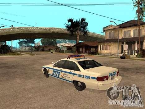 NYPD Chevrolet Caprice Marked Cruiser pour GTA San Andreas laissé vue
