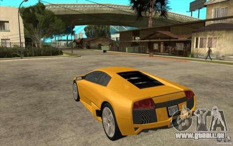 Lamborghini Murcielago LP640 pour GTA San Andreas sur la vue arrière gauche