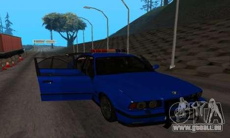 BMW M5 POLICE pour GTA San Andreas vue intérieure